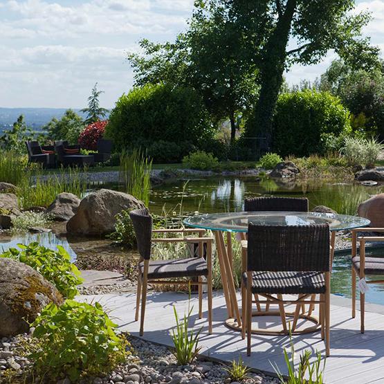 Baignade naturelle les jardins de la vall e for Bassin naturel de baignade