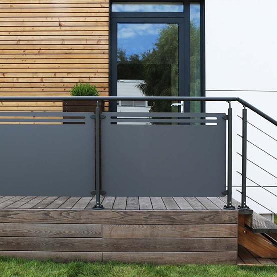 garde corps en inox et en verre les jardins de la vall e. Black Bedroom Furniture Sets. Home Design Ideas