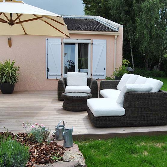 Pose de terrasse en bois  la qualité GRAD®