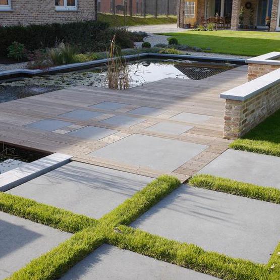 Terrasse en pierre les jardins de la vall e for Brumisateur bassin exterieur
